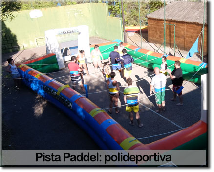 Pista de paddel team building